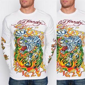 76c3fb3ae44d Ed Hardy Shirts - Ed Hardy Men s Long Sleeve